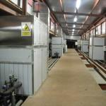 Instalación de climatización industrial para secado de jamones